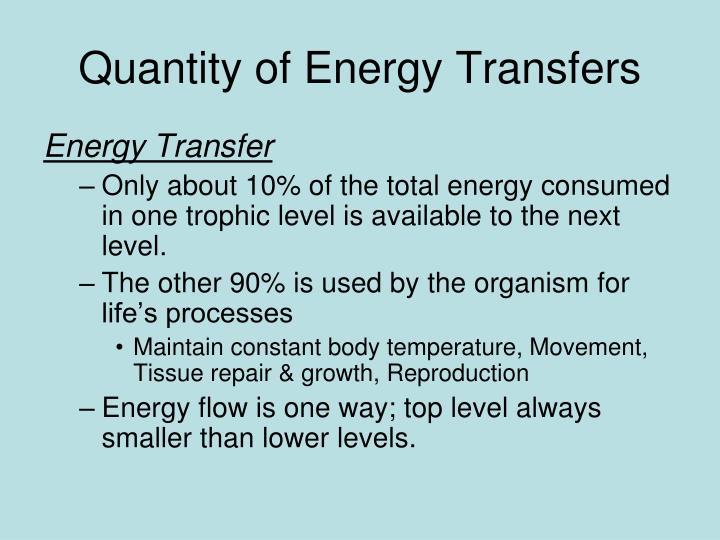 Quantity of Energy Transfers