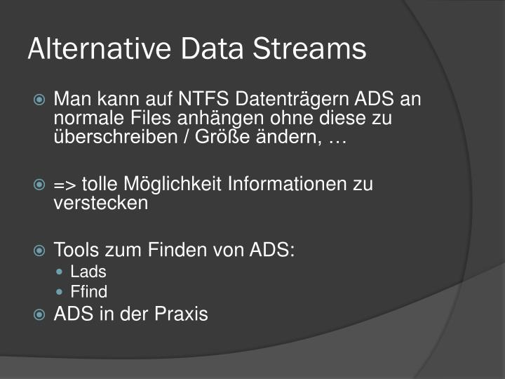 Alternative Data Streams