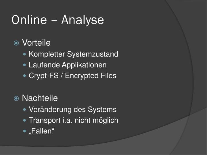 Online – Analyse