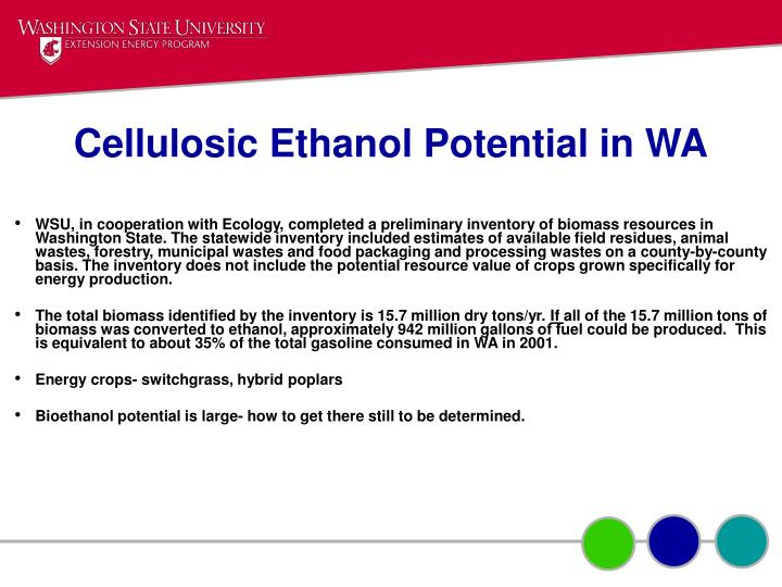 Cellulosic Ethanol Potential in WA
