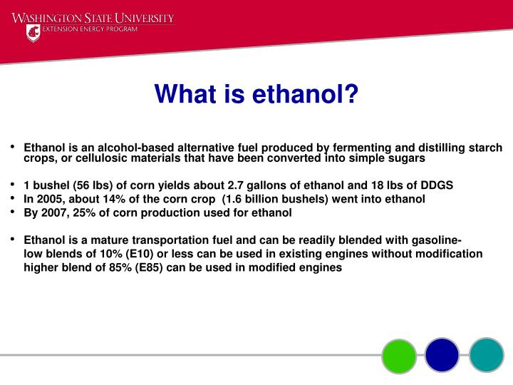 What is ethanol?