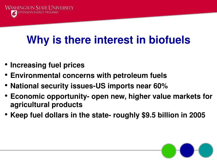 Why is there interest in biofuels