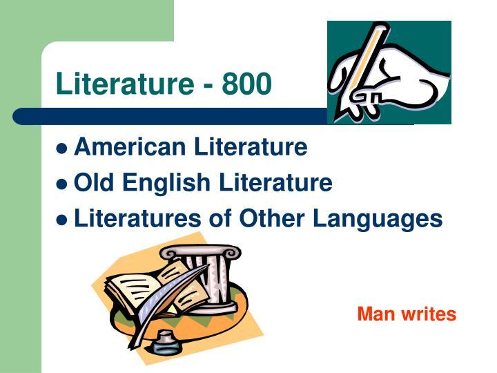 Literature - 800