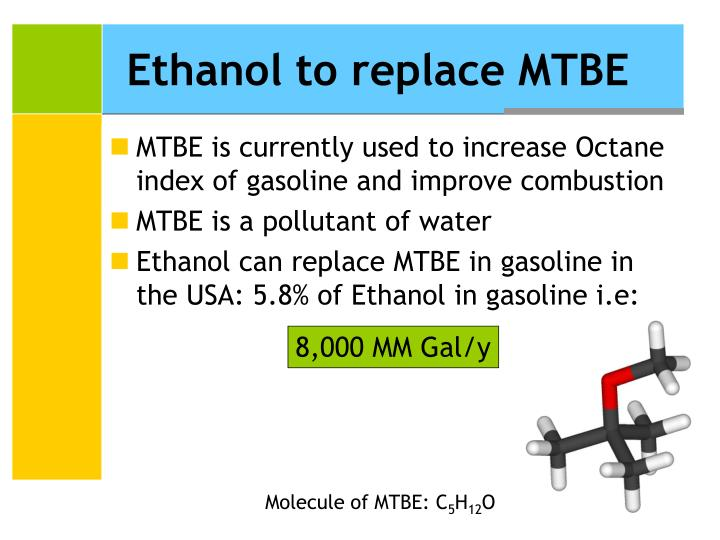 Ethanol to replace MTBE