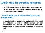 qui n viola los derechos humanos