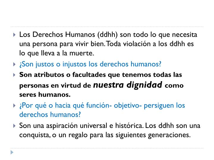 Los Derechos Humanos (