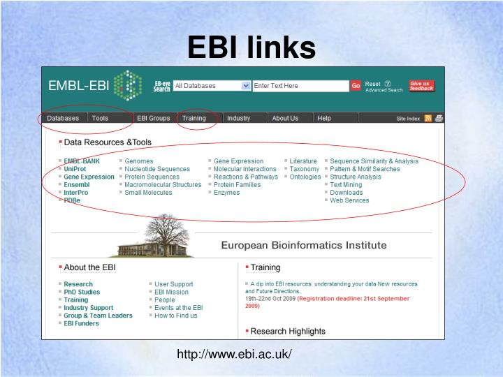 EBI links