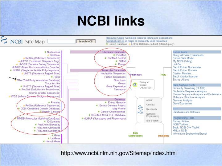 NCBI links