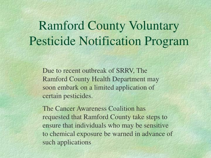 Ramford County Voluntary Pesticide Notification Program