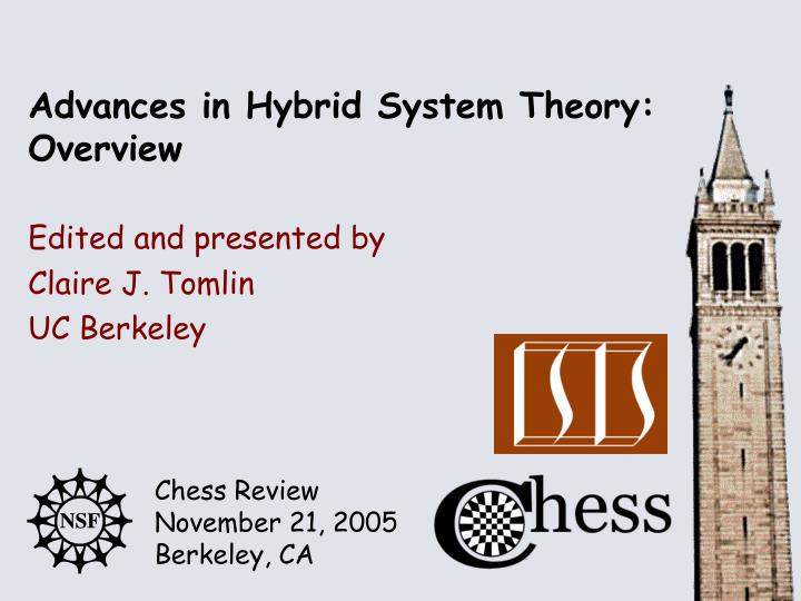 Advances in hybrid system theory overview