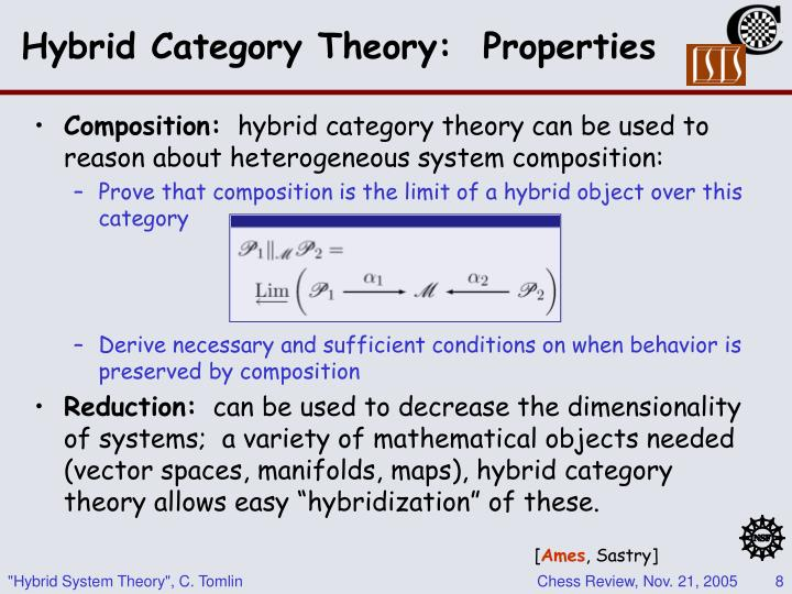 Hybrid Category Theory:  Properties