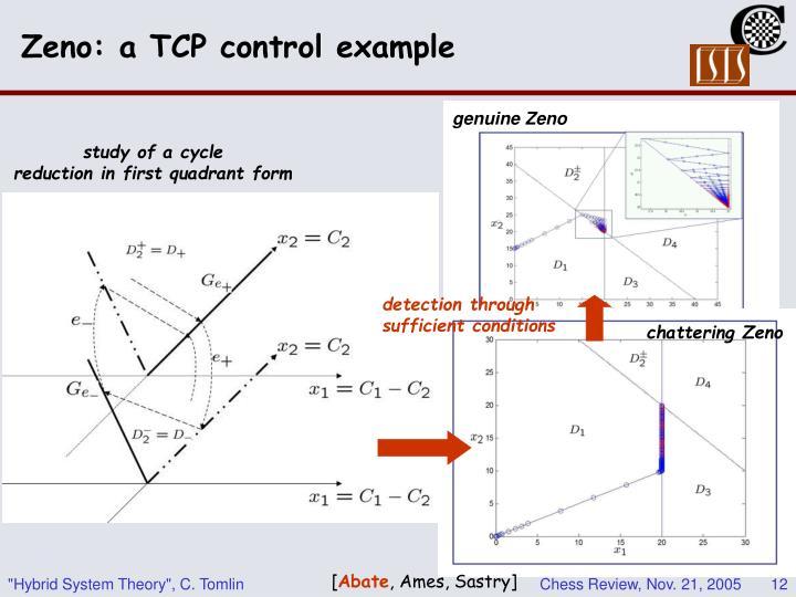 Zeno: a TCP control example