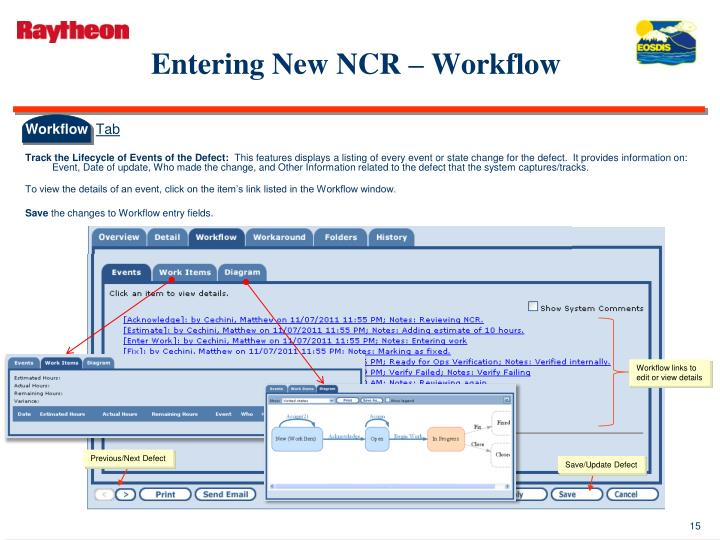 Entering New NCR – Workflow
