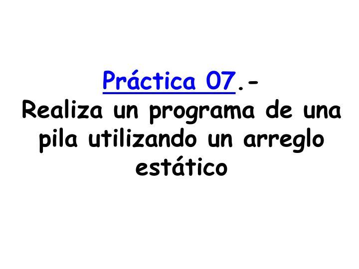 Práctica 07