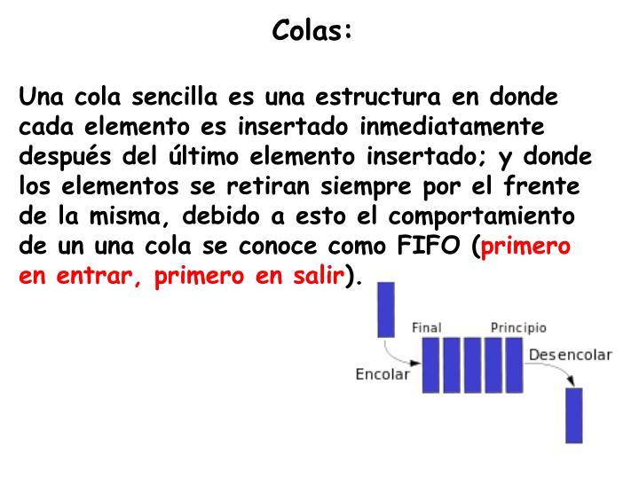 Colas: