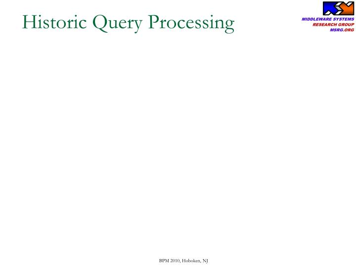 Historic Query Processing