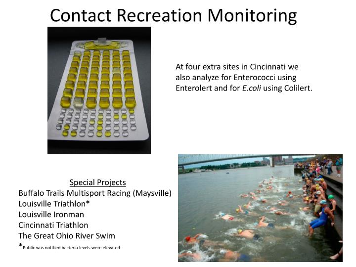 Contact Recreation Monitoring