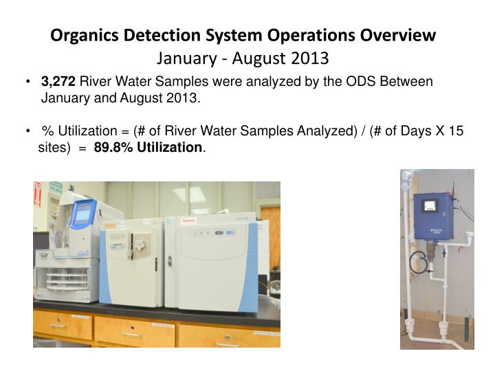 Organics Detection System Operations Overview