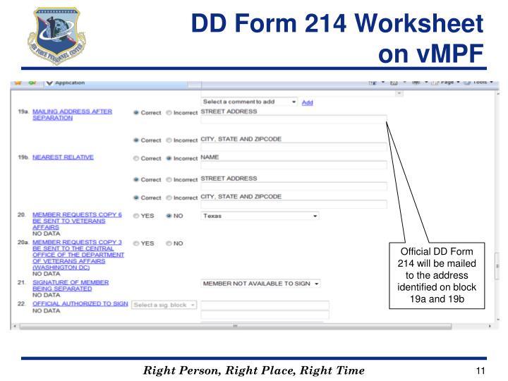 PPT  DD Form 214 Instructions  Retirements  Separations