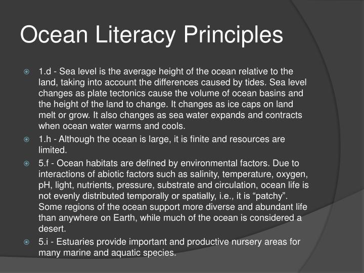 Ocean Literacy Principles