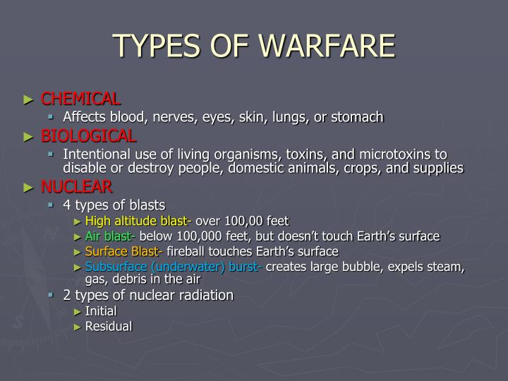 TYPES OF WARFARE