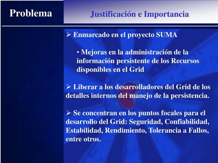 Enmarcado en el proyecto SUMA
