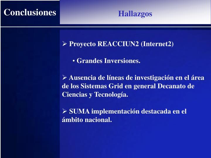 Proyecto REACCIUN2 (Internet2)