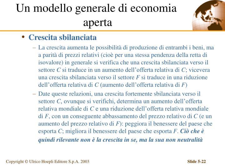 Un modello generale di economia