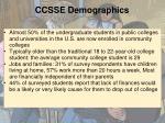 ccsse demographics