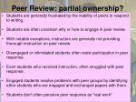 peer review partial ownership