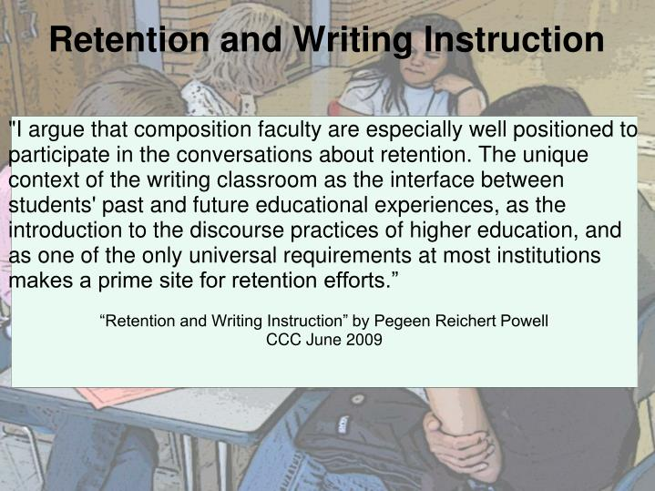 Retention and Writing Instruction