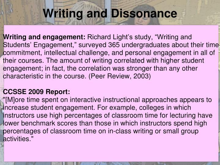 Writing and Dissonance