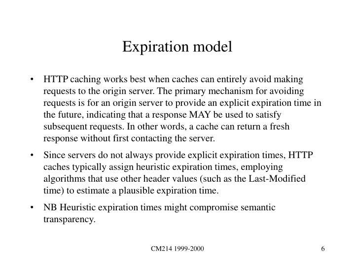 Expiration model