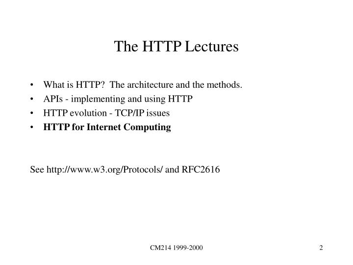 The HTTP Lectures