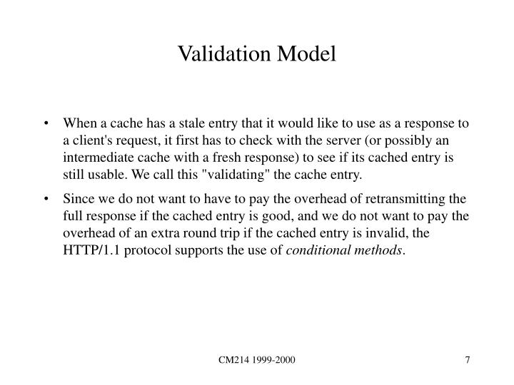 Validation Model