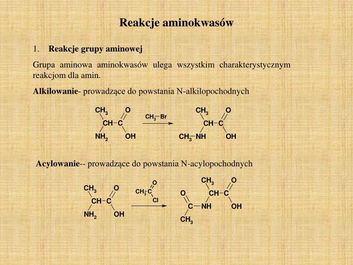 Reakcje aminokwasów