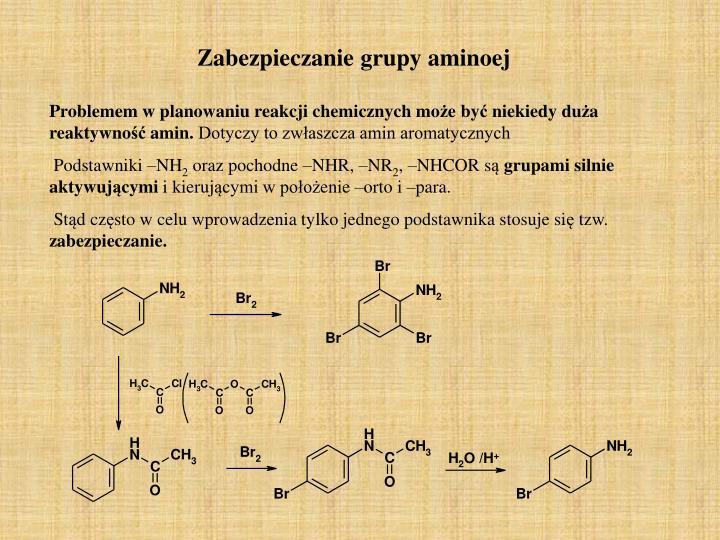 Zabezpieczanie grupy aminoej