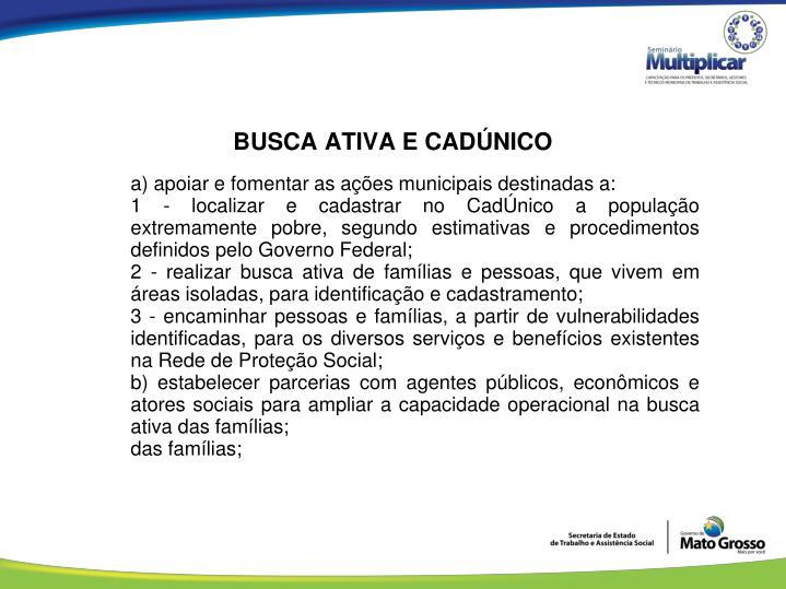 BUSCA ATIVA E CADÚNICO