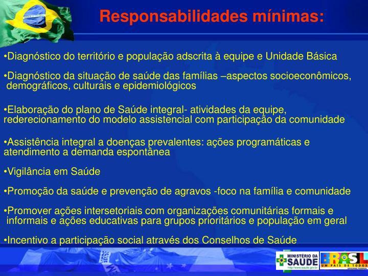 Responsabilidades mnimas: