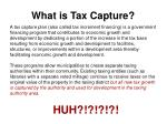 what is tax capture