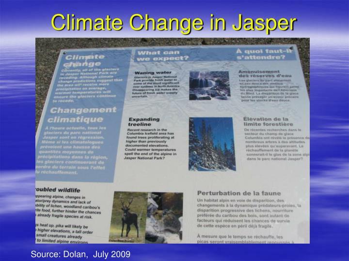 Climate Change in Jasper