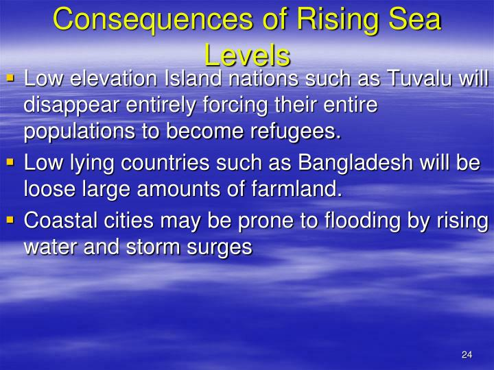 Consequences of Rising Sea Levels