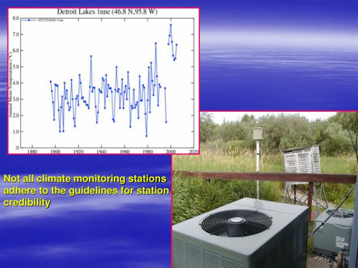 Not all climate monitoring stations adhere to the guidelines for station credibility