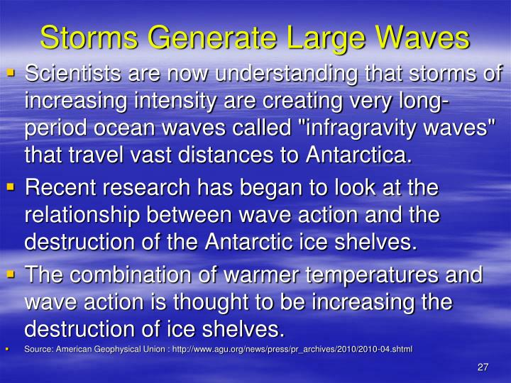 Storms Generate Large Waves