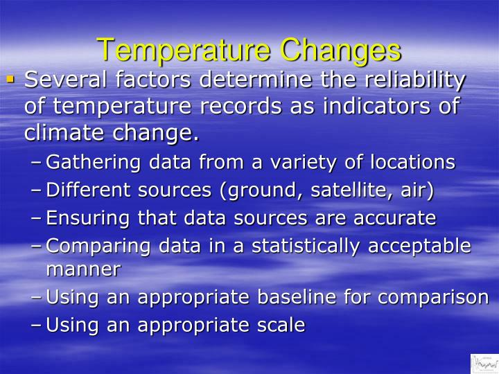 Temperature changes1
