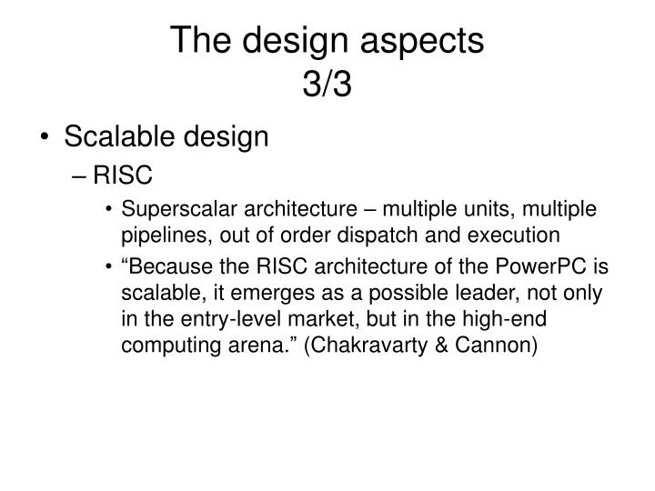 The design aspects