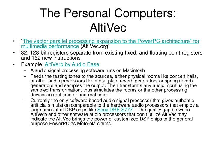 The Personal Computers: