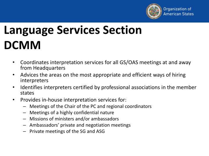 Language Services Section