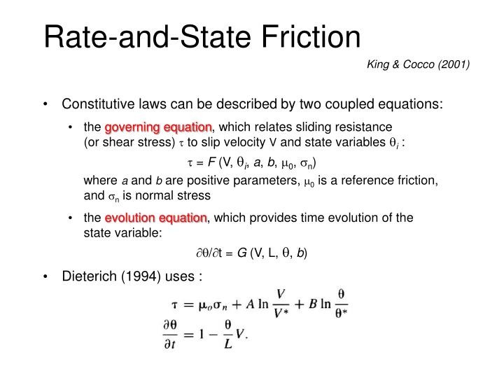 Rate-and-State Friction