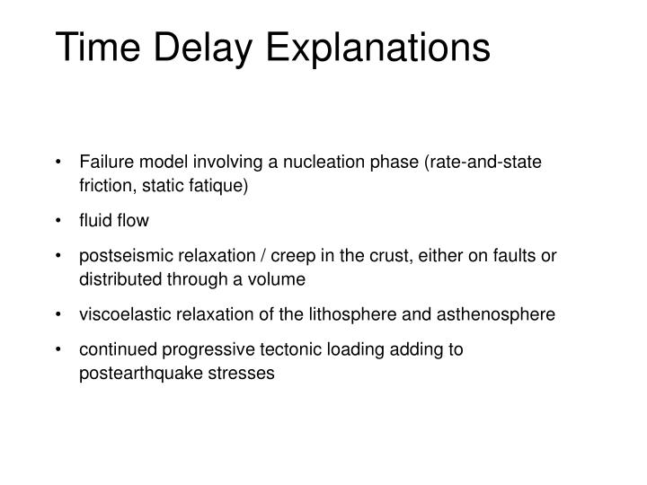 Time Delay Explanations